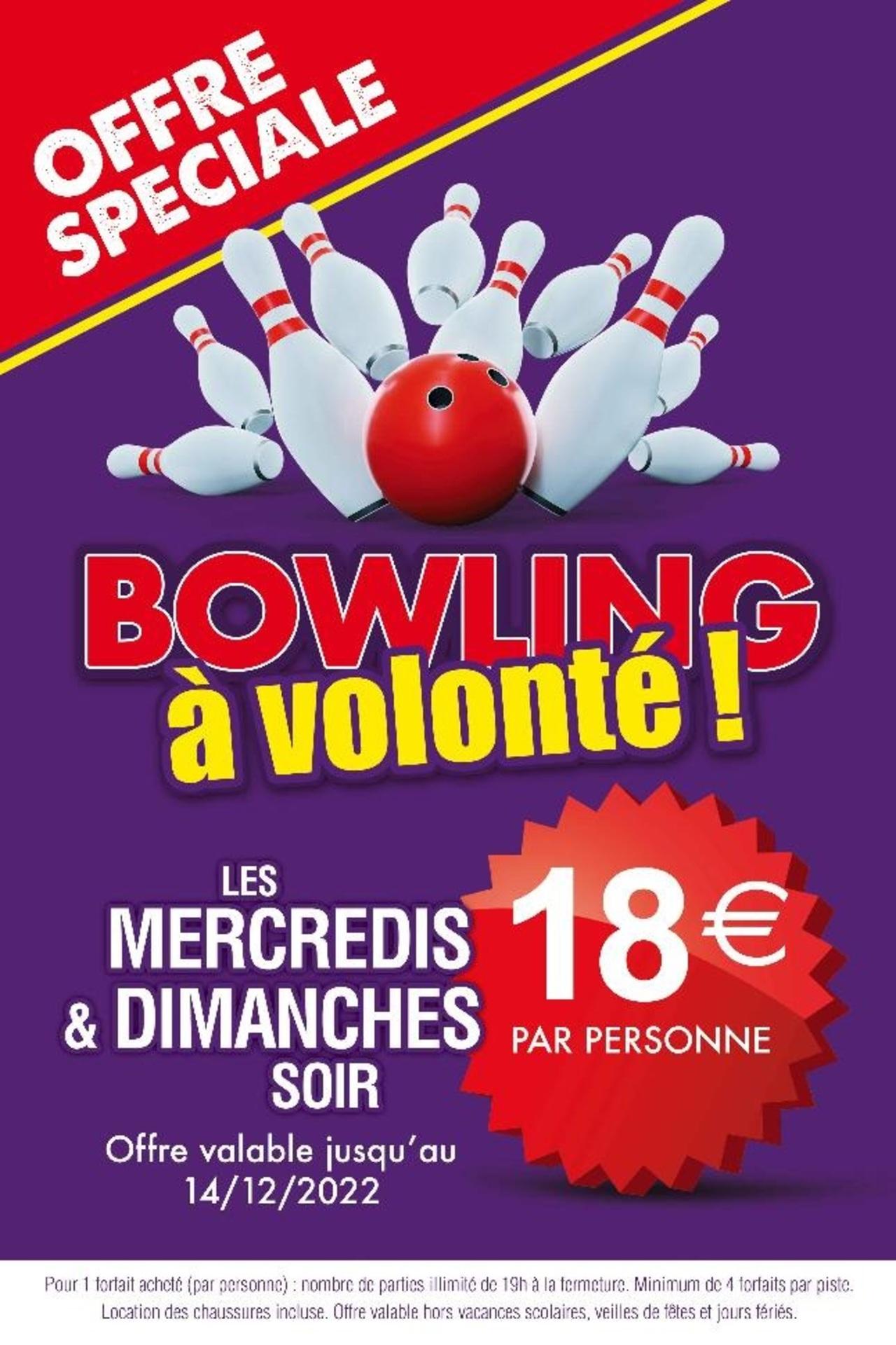 BOWLING A VOLONTE LE Mercredi soir